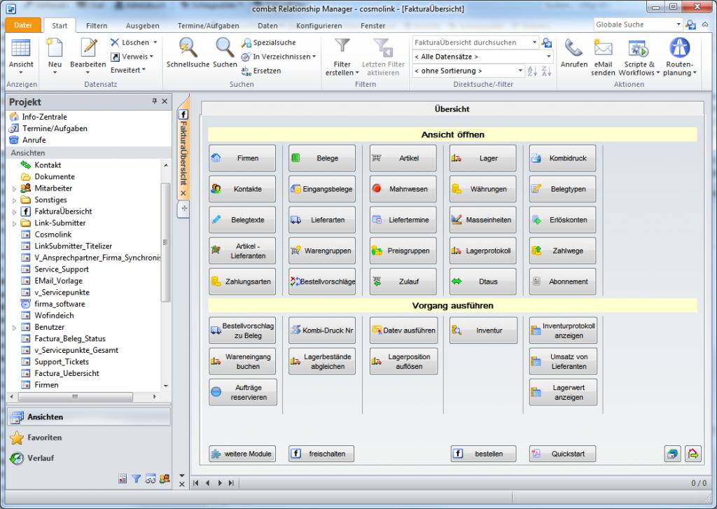 Faktura Software für den cRM7
